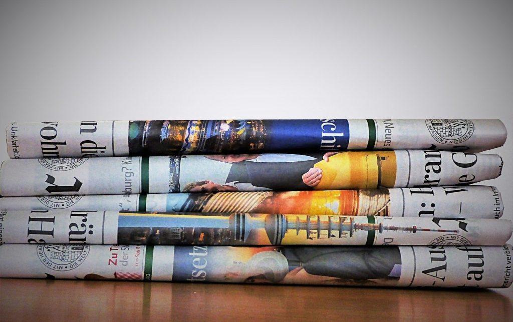 newspaper, paper, newsprint