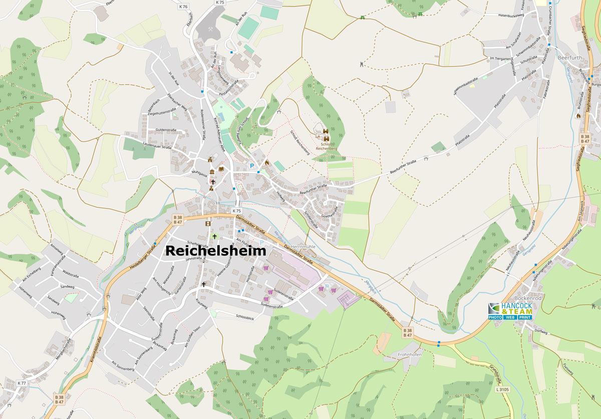 Karte Reichelsheim-Bockenrod